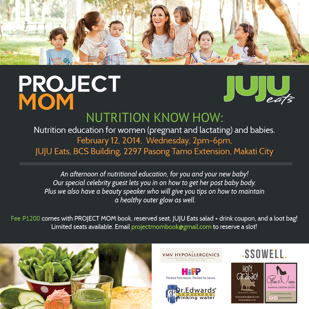 You are Invited to Project Mom & Jujueats Event