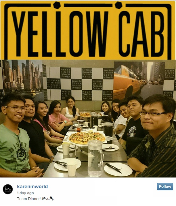7M Team Dinner at Yellow Cab