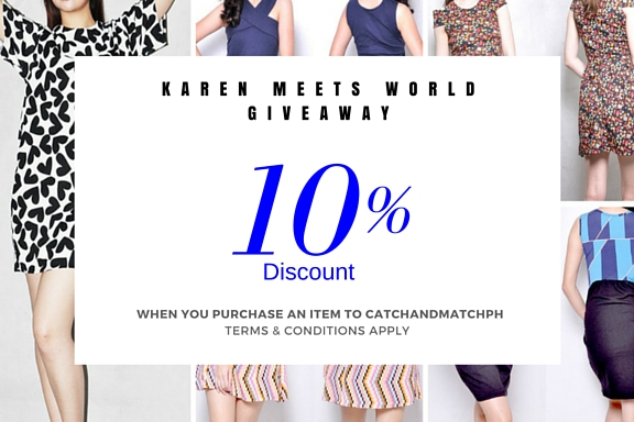 Karen Meets World Giveaway: Catch and Match PH Discount Voucher (Closed)