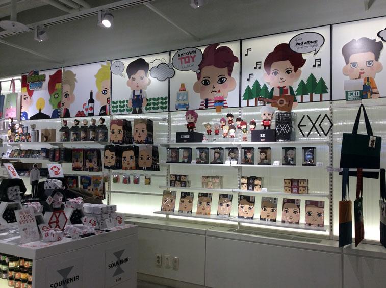 EXO Merhandise at SMTown