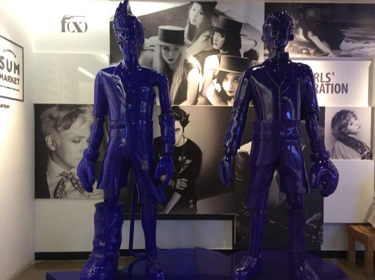 Manequinn inside SMTown Cafe