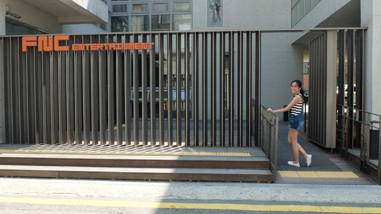 Karen Meets World Photo at FNC Entertainment Building