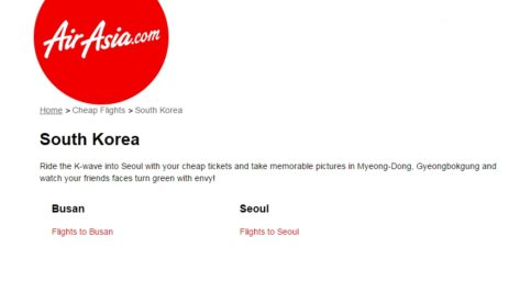Air Asia Cheap Flights to Korea