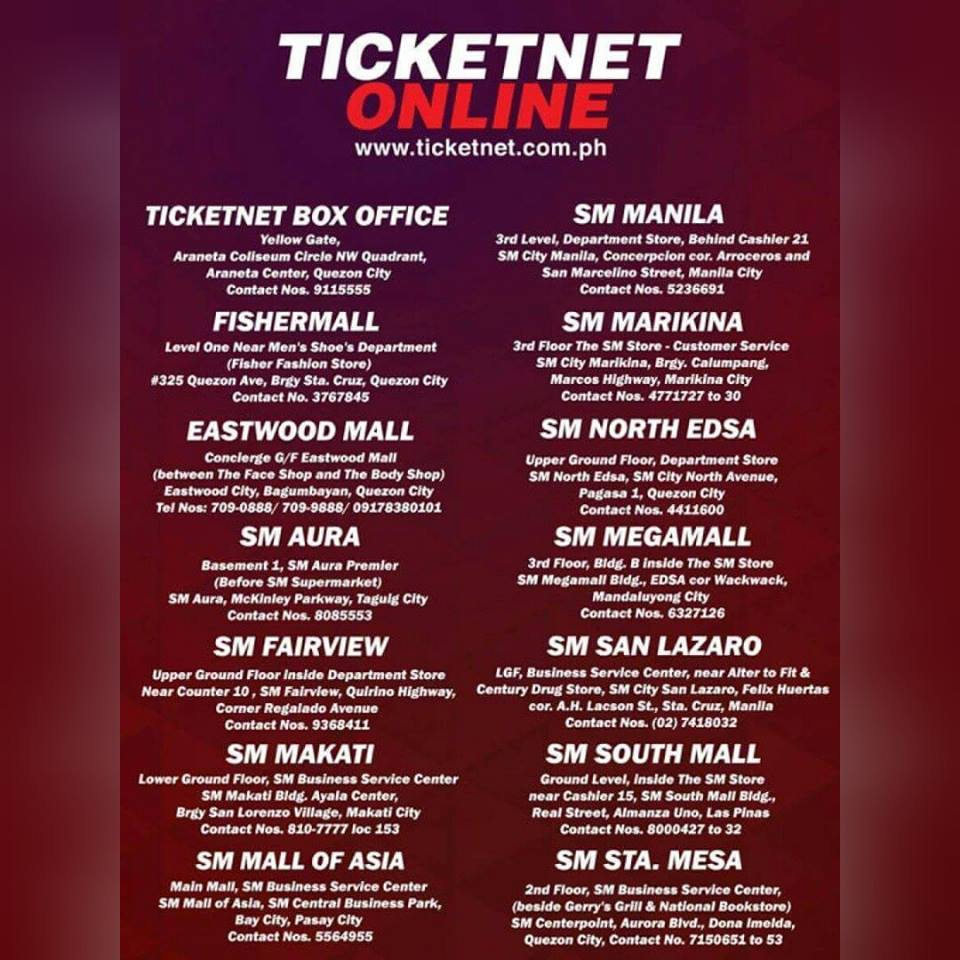 ticketnet outlets