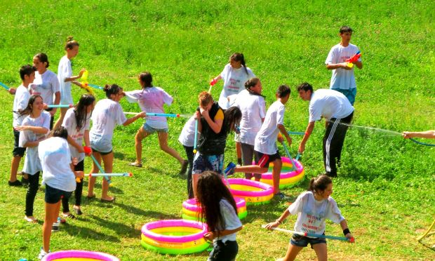 Serbian and Kosovar children & youth having fun together in the Summer Camp