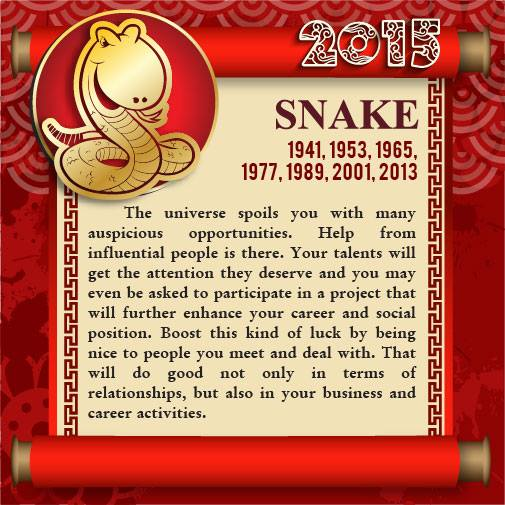 Good Opportunity Will Come to Snake People