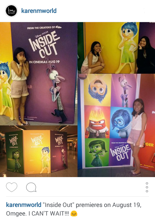 Karenmworld IG Update: Inside Out Movie Premiere!