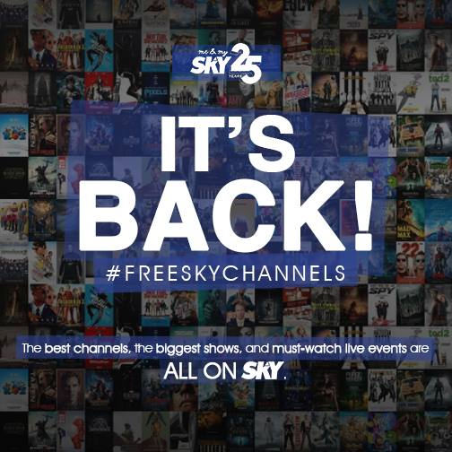 Enjoying Sky Cable's Free Sky Channels