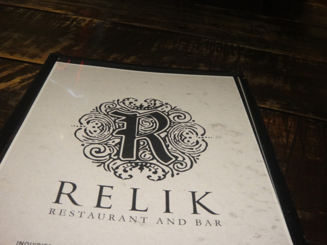 What's on Dinner at Relik today?