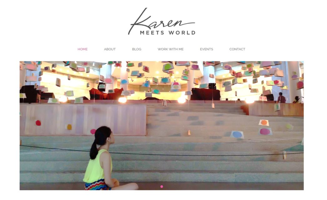 Welcome to KarenMeetsWorld.com!