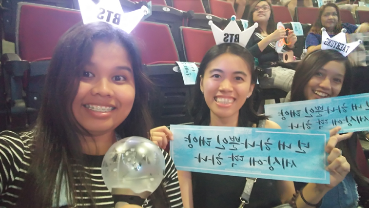 Team Upper Box A while Holding BTS Banner for Fan Project