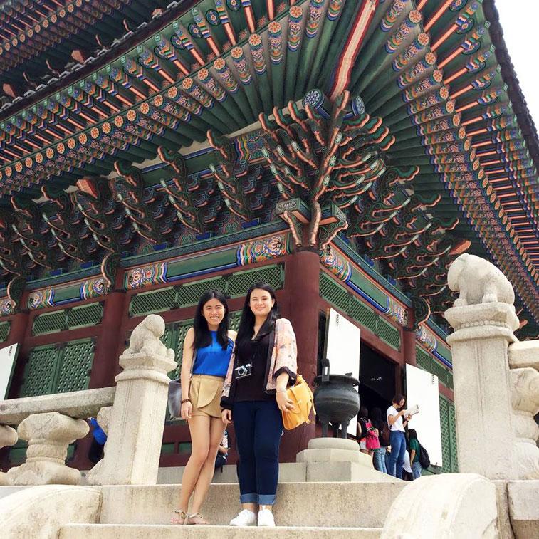Debby and Karen Inside Gyeongbokgung Palace